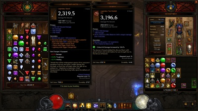 Buy Well Geared Level 70 Wizard and Demon Hunter along with other 70