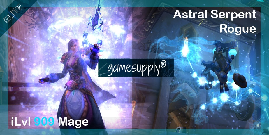 ILvl 909 Mage & Astral Cloud Serpent Rogue